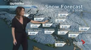 B.C. evening weather forecast: Jan 1st
