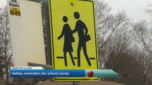 Safety reminders for school zones