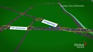 Animation model of Metro LRT Line going through Edmonton (01:59)