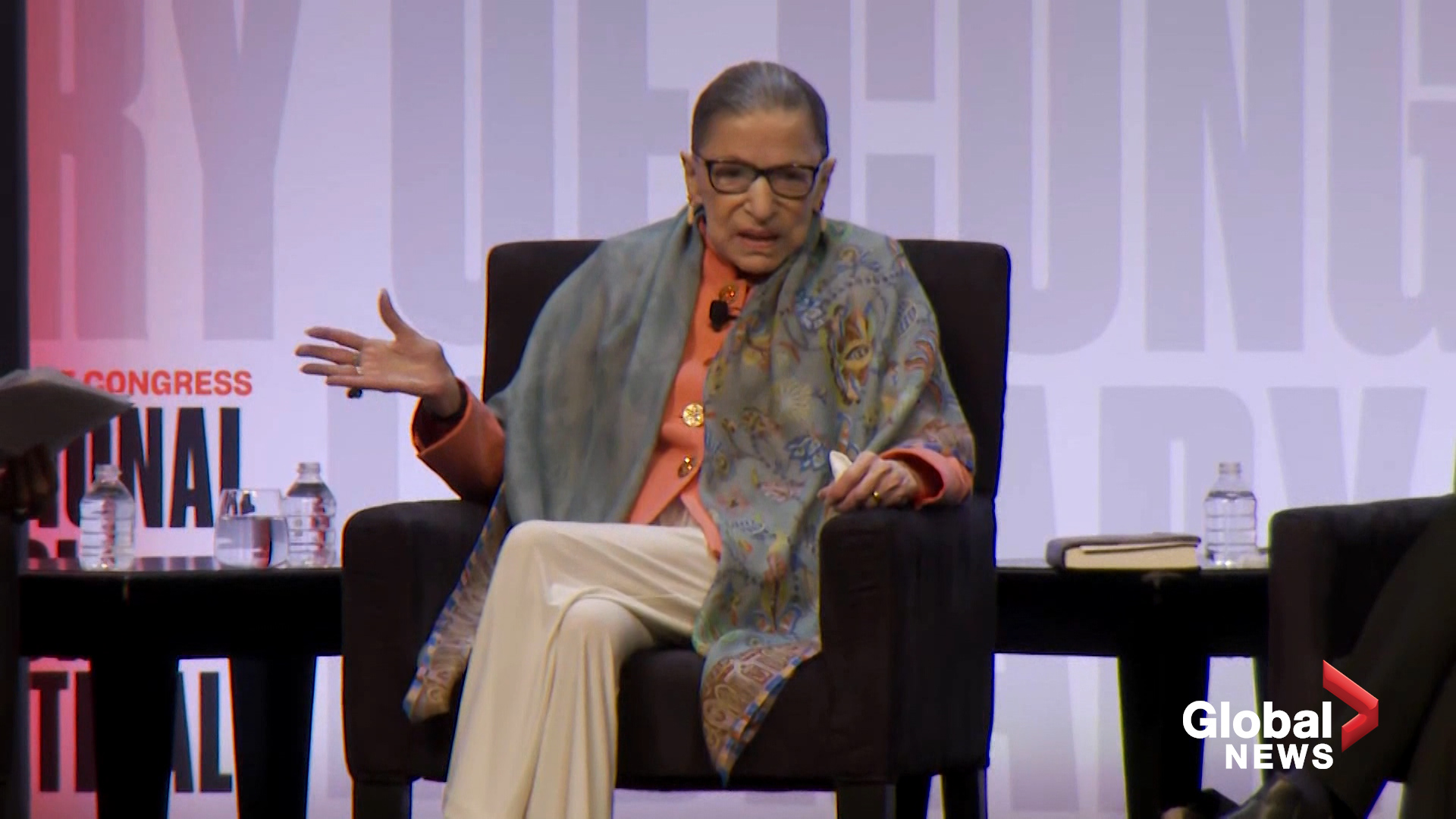Ruth Bader Ginsburg tells audience it 'can see I am alive'