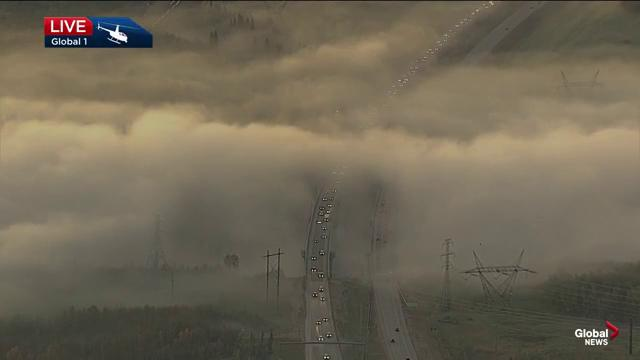 Fog envelops Edmonton river valley: 'What a shot you have there!'