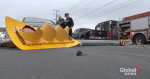 Traffic light topples onto vehicles in collision on Ashburnham Drive in Peterborough