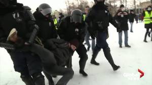 Russian police use batons, detain over 1,000 at Navalny rally (04:20)