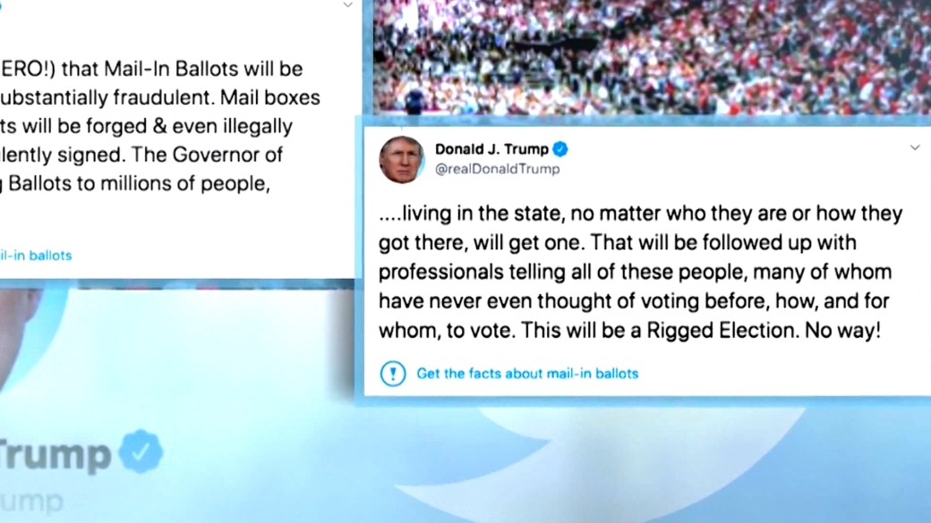 Click to play video 'Trump threatens social media platforms after Twitter labels tweets with fact check label'