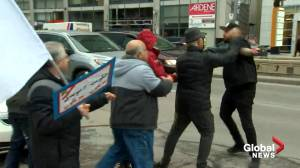 Fight breaks out at Toronto demonstration supporting U.S. airstrike that killed Iranian commander