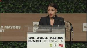 Alexandria Ocasio-Cortez gives emotional speech on climate change