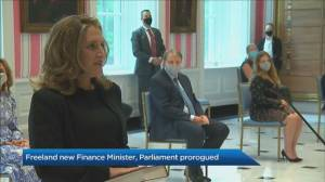 Trudeau prorogues Parliament, Freeland new Finance Minister (02:05)