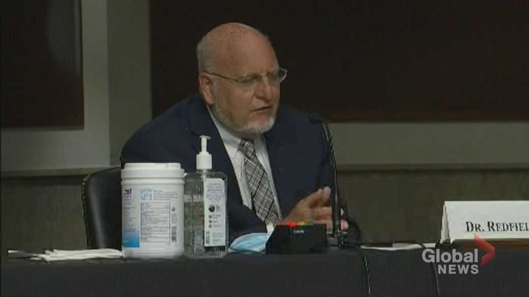 Click to play video 'Coronavirus: CDC director challenged over removing guidance on airborne transmission'