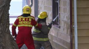 2 trailers, 3 cabins burned in lakefront fire (00:54)