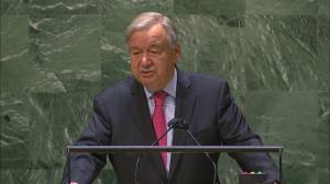 UN chief says global COVID-19 vaccine rollout would receive an 'F' in ethics (01:50)