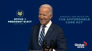 US election: Biden rejects Trump claims on outcome, says transition is 'well underway' (03:04)