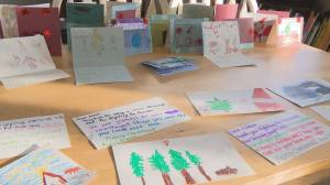 Edmonton students send hand-made Christmas cards to Canadian soldiers