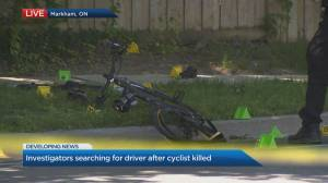 Cyclist killed in a hit-and-run in Markham