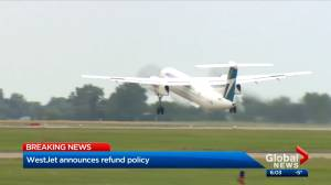 WestJet announces refunds for flights cancelled because of COVID-19 pandemic (01:43)