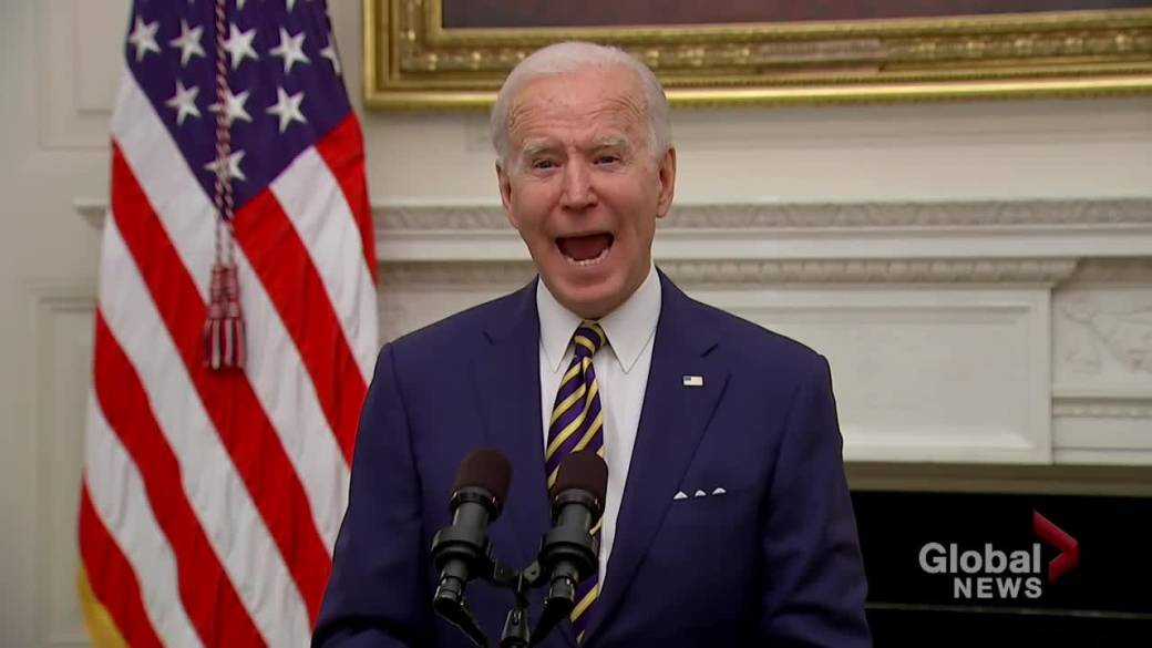 Click to play video 'Coronavirus: Biden's 'American Rescue Plan' to rebuild U.S. economy 1 year faster than without plan, says president'