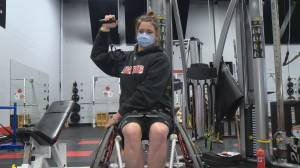 Paralympian Erica Gavel balances PhD studies and training (04:29)