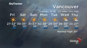 B.C. evening weather forecast: June 24 (01:31)