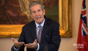 Brian Pallister talks about his carbon tax plan for Manitoba