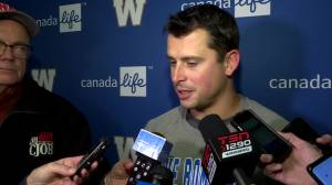 RAW: Blue Bombers Zach Collaros Interview – Oct. 22