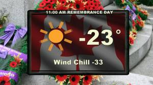 Saskatchewan weather outlook: snow, -30 wind chills for Remembrance Day long weekend