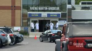 Some Montreal-area COVID-19 testing sites begin to close their doors (02:03)