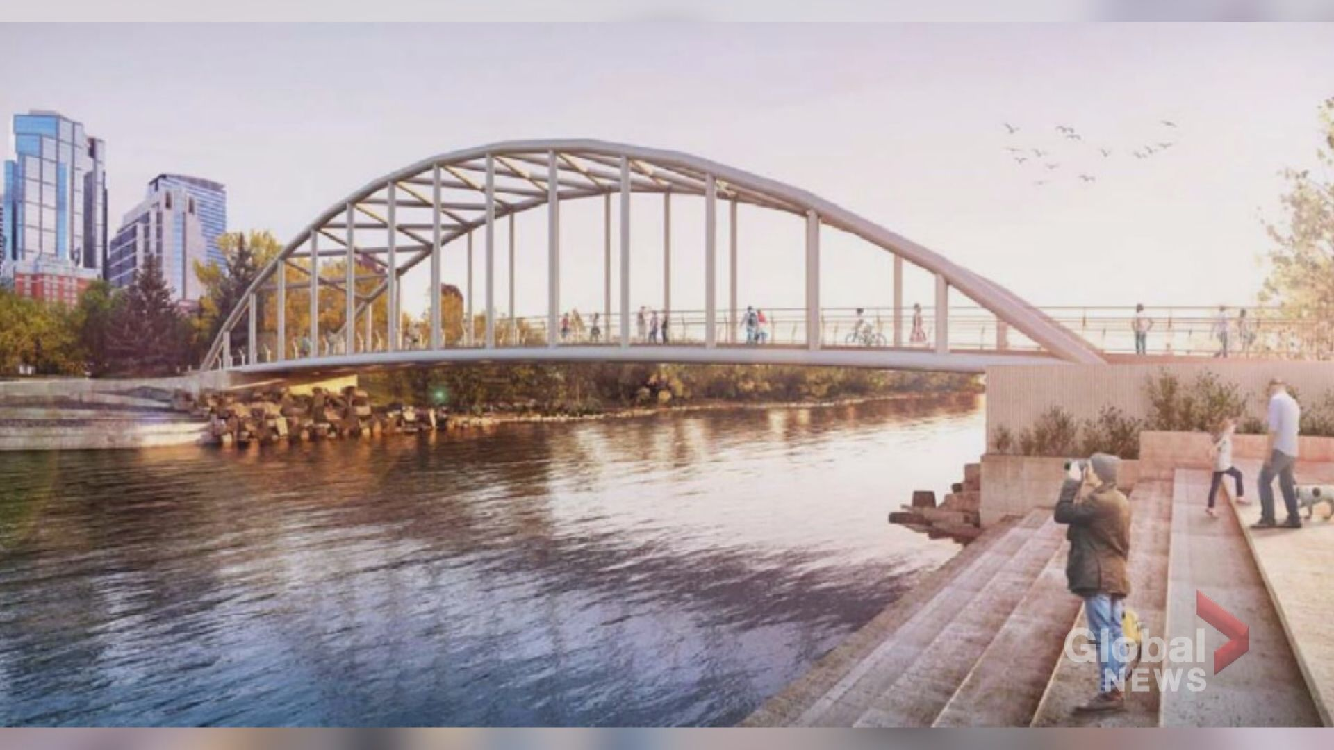 New pedestrian bridge at Prince's Island Park should be 'special,' first design kiboshed