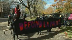 Montrealers call on the city to defund the police, reinvest in communities (01:49)