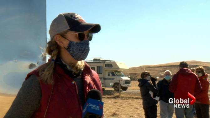 Click to play video: Coal mining protestors gather in southern Alberta, worried about upcoming public consultation
