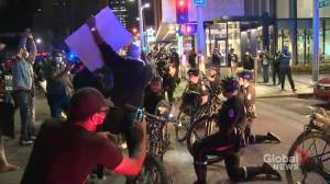 Late night protest stretches from downtown Edmonton to Old Strathcona