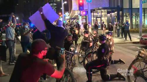 Late night protest stretches from downtown Edmonton to Old Strathcona | Watch News Videos Online