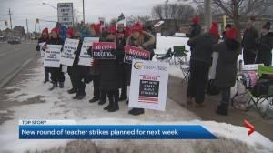 More teachers strikes planned for next week across Ontario