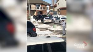 Video captures dramatic arrest of driver who allegedly stole tow truck in Brampton, Ont. (01:05)