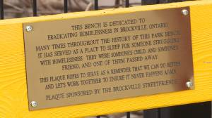 Brockville unveils plaque on National Homeless Memorial Day (02:22)