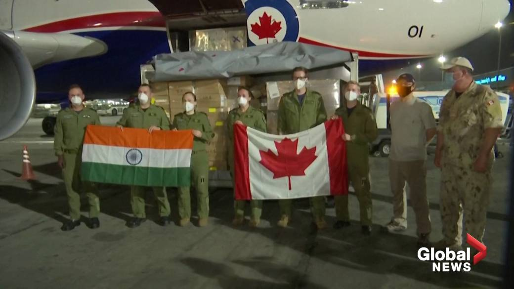 Click to play video: 'Aid from Canada arrives in COVID-stricken India'
