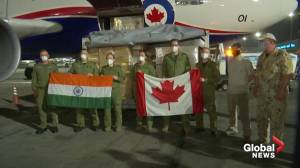 Aid from Canada arrives in COVID-stricken India (01:26)