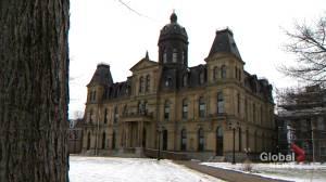 Opposition force standoff in N.B. legislature over lack of hybrid sittings (02:02)
