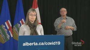 Alberta records 1,077 new cases of COVID-19 and 10 deaths on Thursday (01:06)
