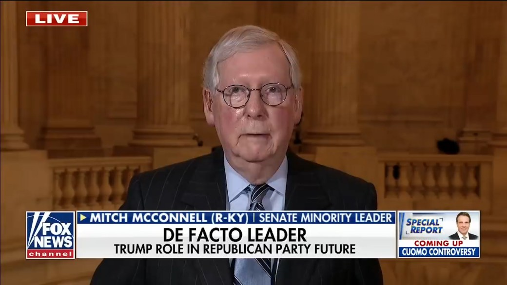 Click to play video 'McConnell says he would 'absolutely' support Trump if he's GOP nominee for 2024 election'
