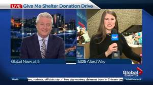 Global Edmonton's all-day donation drive underway for Give Me Shelter campaign