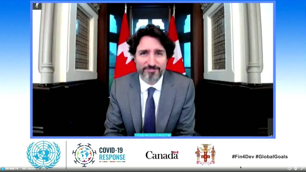Click to play video 'Coronavirus outbreak: Trudeau tells UN the only way we 'bounce back' from COVID-19 is 'together''