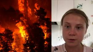 Greta Thunberg says dire UN climate change report can serve as 'a wake up call' (03:34)