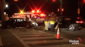 Injuries reported in 2-vehicle collision on Sherbrooke Street in Peterborough (00:43)