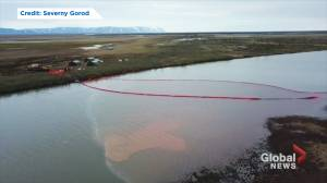 Oil spill poisons Russian Arctic river after a fuel tank lost pressure