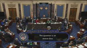 Trump impeachment: U.S. Senate votes to acquit former president Donald Trump (00:57)