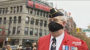 Highlights from the 2020 Remembrance Day ceremony in Vancouver's Victory Square (02:10)