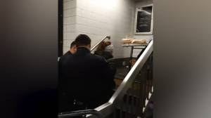Video shows New York police detaining woman selling churros inside Brooklyn subway station