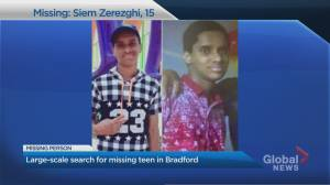 Large-scale search underway for missing Bradford, Ont. teen (02:01)