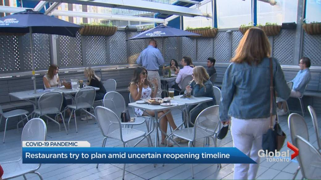 Click to play video: 'COVID-19: Ontario restaurants try to plan amid uncertain reopening timeline'