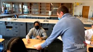 N.B. high school students returning to classrooms full-time in April (01:46)