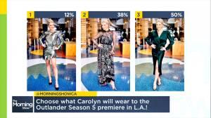 Sam Heughan weighs-in on Carolyn's 'Outlander' premiere outfit